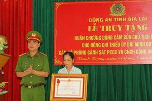 Truy tặng Huân chương dũng cảm cho Thiếu úy hy sinh khi làm nhiệm vụ