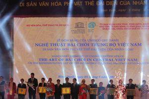 Bình Định: Đón bằng của UNESCO ghi danh 'Nghệ thuật Bài Chòi Trung Bộ Việt Nam'