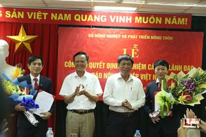 Bổ nhiệm 2 Phó Tổng Biên tập Báo Nông nghiệp Việt Nam