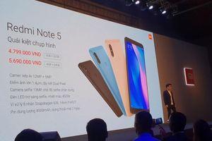 Xiaomi ra mắt 'quái kiệt' Redmi Note5, giá chỉ 4,79 triệu đồng