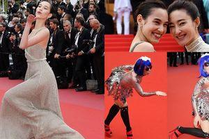 Loạt sao tạo dáng độc đáo trên thảm đỏ Cannes 2018