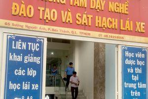 Thanh tra 'đột kích' văn phòng tuyển sinh, đào tạo lái xe ở TP.HCM