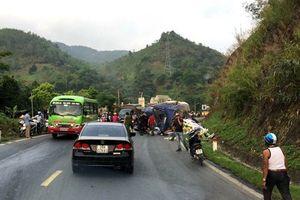 Hiện trường vụ xe đâm liên hoàn ở dốc Cun, 4 người chết và bị thương