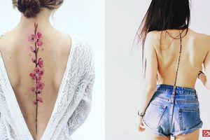 Những mẫu hình xăm dọc sống lưng tinh tế, gợi cảm cho phái nữ khiến ai cũng mê mẩn