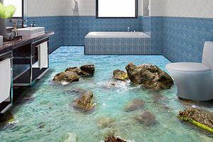 Những kiểu sàn nhà tắm 3D sống động như thật