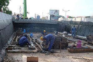Bắt đầu lắp dầm sắt cầu vượt An Dương – Thanh Niên