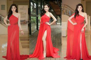 Đỗ Mỹ Linh và á hậu Tú Anh bất-phân-thắng-bại trong lần đầu 'mặc chung' váy xẻ đùi cao hút