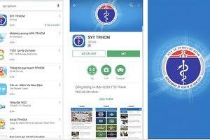 Ra mắt App thông tin điện tử ngành y tế TP.HCM trên điện thoại