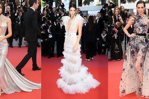 Mỹ nhân Hollywood đua nhau diện váy xuyên thấu, hở bạo tại Cannes