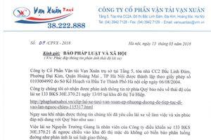 Thừa nhận lái xe taxi đi sai luật, GĐ Cty CP Vận tải Vạn Xuân... nhờ báo gửi lời xin lỗi phóng viên