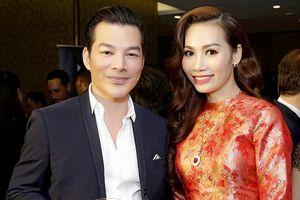 Á hậu Doanh nhân Hoàn vũ 2018 Thúy Anh sánh đôi cùng Trần Bảo Sơn tại sự kiện