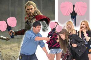 Fan thích thú chế hình lightstick mới của BlackPink giống… búa thần của Thor trong 'Avengers'