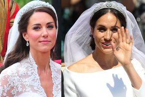 Meghan Markle diện váy cưới kém nổi bật so với những bộ váy hoàng gia
