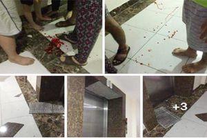 Hà Nội: Gạch ốp thang máy chung cư rơi trúng đầu, 1 bé trai nhập viện