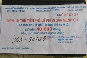 Du khách 'méo mặt' vì giá gửi xe ở biển Sầm Sơn