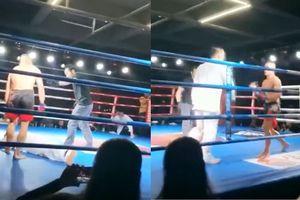 Truyền nhân Thái Cực Võ Đang bị võ sĩ MMA hạ gục sau... 2 giây