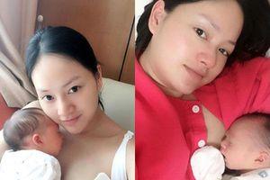 Con gái tròn 8 ngày tuổi, Lan Phương bồi hồi: 'Tôi phải tập vượt qua những cơn đau do vết mổ và bầu ngực căng tức'