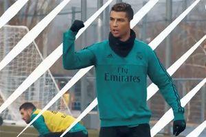 Ronaldo và đồng đội trên sân tập trước chung kết Champions League