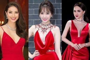 Mỹ nhân Việt cùng diện đầm đỏ rực, ai sexy nhất?