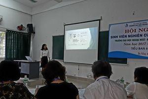 Ngày hội nghiên cứu, sáng tạo của sinh viên trường ĐH Ngoại ngữ - ĐH Đà Nẵng