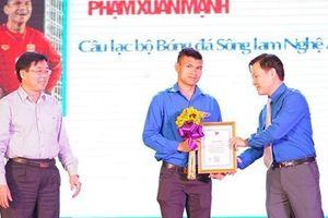 2 cầu thủ U23 được vinh danh thanh niên tiêu biểu của tỉnh Nghệ An