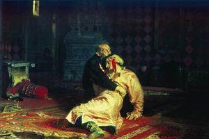 Bợm nhậu Nga phá nát bức tranh Ivan Khủng khiếp giết con
