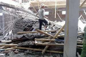 Sập giàn giáo, 2 người thương vong tại Nam Định