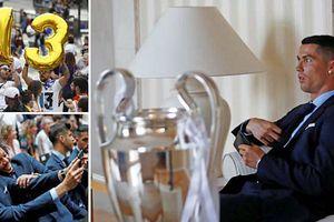 Ronaldo cắt tóc ăn mừng cùng CĐV Real Madrid