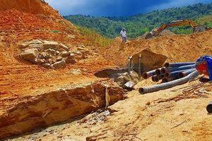 Phá rừng, trộm cát công khai ở lòng hồ Đa Mi