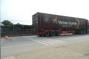 2 vợ chồng thương vong vì va chạm với xe container