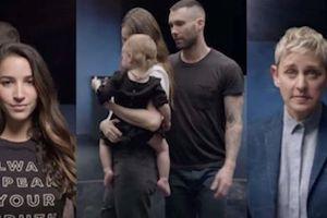 Adam Levine đưa vợ con cùng dàn sao quyền lực vào MV tôn vinh phái nữ