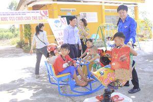 Trao khu vui chơi cho thiếu nhi nông thôn Hòa vang