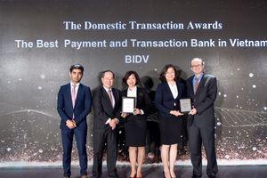 BIDV được vinh danh là ngân hàng có dịch vụ thanh toán và giao dịch tốt nhất