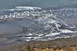 Bùn, rác thải nhuộm đen bãi tắm Quy Nhơn