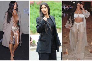 Vừa mới diện suit sang trọng gặp tổng thống Donald Trump xong, Kim Kardashian lại diện đầm ni-lông trong suốt lộ hết cả nội y ra đường!