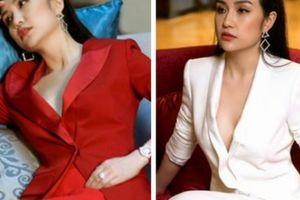 Vợ hot girl của Tuấn Hưng tung bộ ảnh khoe ngực đầy với áo vest không nội y