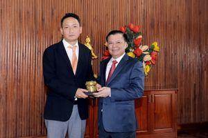 Bộ trưởng Đinh Tiến Dũng tiếp tân Đại sứ Hàn Quốc tại Việt Nam
