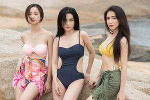Jun Vũ, Hòa Minzy, Sỹ Thanh khoe dáng nóng bỏng trên biển