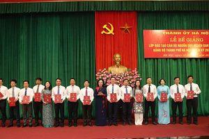 Bế giảng lớp đào tạo cán bộ nguồn quy hoạch Ban Chấp hành Đảng bộ TP Hà Nội nhiệm kỳ 2020-2025
