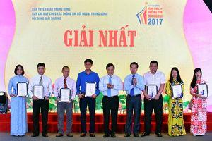 67 tác phẩm được trao giải Giải thưởng toàn quốc về thông tin đối ngoại năm 2017