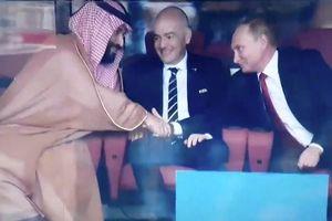 Biểu cảm 'gây sốt' của ông Putin sau chiến thắng đầu tiên của Nga ở World Cup