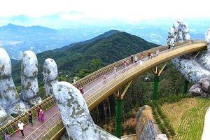 Đà Nẵng: Cận cảnh bàn tay khổng lồ nâng đỡ cây cầu ở lưng chừng núi