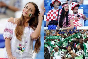Nữ cổ động viên Croatia 'đốn tim' khán giả ở trận thắng Nigeria