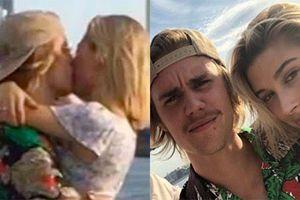 Chia tay Selena Gomez, Justin Bieber hôn đắm đuối tình cũ Hailey Baldwin