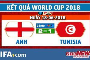 Video kết quả Anh vs Tunisia 2-1: Anh thắng nhọc nhằn trận ra quân