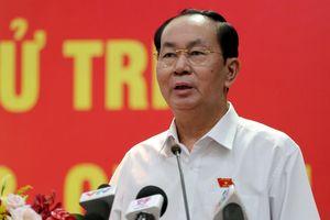 Chủ tịch nước: 'Nhiều phần tử xấu kích động người dân gây rối'