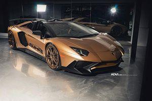 Lamborghini Aventador SV mui trần độ 'khoác áo' vàng cực độc