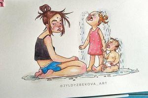 Bộ tranh: Cuộc sống rối bời nhưng hạnh phúc của một bà mẹ