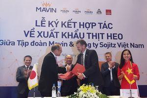 Tập đoàn Mavin và Sojitz ký kết hợp tác xuất khẩu thịt heo