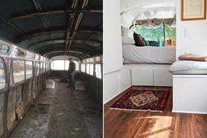 Mua chiếc xe buýt cũ không ai dùng, người phụ nữ biến nó thành căn hộ ấm cúng xứng đáng 5 sao